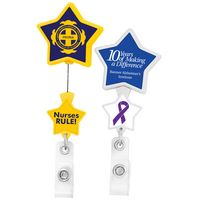 Double Up Star Retractable Badge Reel (Polydome)
