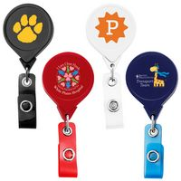 Jumbo Round Badge Reel w/ Belt Clip (Chroma Digital Direct Print)