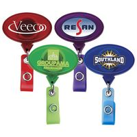 Jumbo Oval Translucent Retractable Badge Reel (Chroma Digital Direct Print)