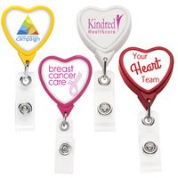 Heart Retractable Badge Reel (Polydome)