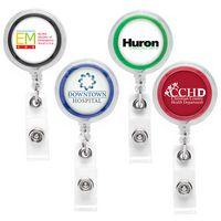 Jumbo See-Thru Retractable Badge Reel (Label Only)