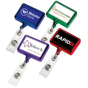 Color Chrome Rectangle Badge Reel (Polydome)