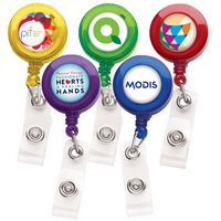 Better Translucent Round Retractable Badge Reel (Label Only)