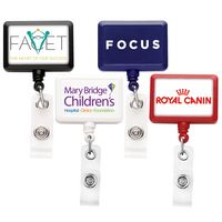 Rectangle Badge Reel (Label Only)