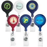 No Twist Round Retractable Badge Reel (Polydome)