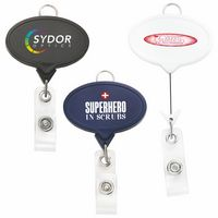 Jumbo Oval Badge Reel w/Lanyard Attachment(Chroma)