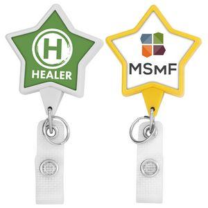 Hemp Jumbo Heart Badge Reel (Label Only)   Studio D Merchandise