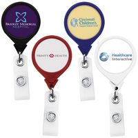Jumbo Anti-Microbial Round Retractable Badge Reel (Polydome)