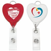 Jumbo Heart Badge Reel w/Lanyard Attachment(Chroma)