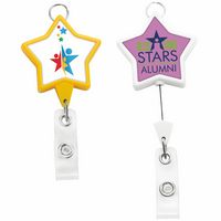 Jumbo Star Badge Reel w/Lanyard Attachment (Label)