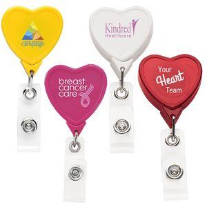 Heart Retractable Badge Reel (Chroma Digital Direct Print)