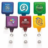 Best Translucent Square Retractable Badge Reel w/Alligator Clip (CHROMA)