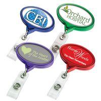 Color Chrome Jumbo Oval Badge Reel (Polydome)
