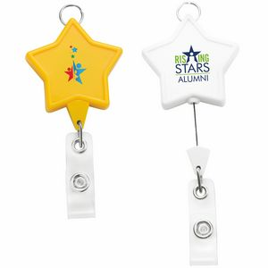 Jumbo Star Badge Reel w/Lanyard Attachment (Chroma)