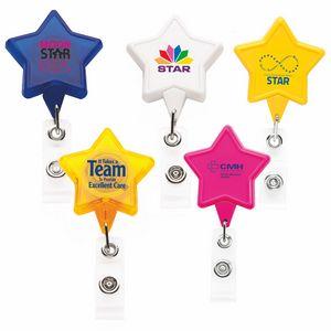 Star Retractable Badge Reel (Chroma Digital Direct Print)