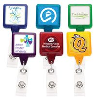 Best Translucent Square Retractable Badge Reel w/ Alligator Clip (Label)