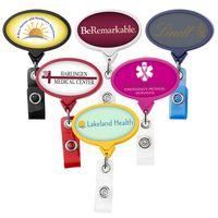 Jumbo Oval Retractable Badge Reel (Label Only)