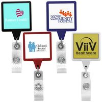 Jumbo Anti-Microbial Square Retractable Badge Reel (Polydome)