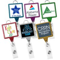JUMBO Square Glitter Badge Reel (Label)