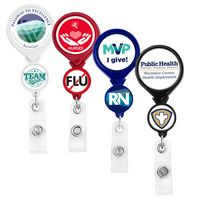 Double Up Round Retractable Badge Reel (Polydome)