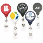 Custom Best Round Retractable Badge Reel w/ Alligator Clip (Polydome)