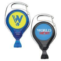 No Twist Carabiner Retractable Badge Reel: (Label Only)