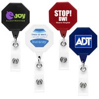Jumbo Octagon Retractable Badge Reel (Chroma Digital Direct Print)