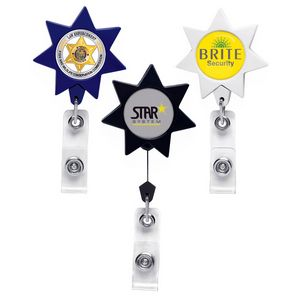 7 Point Star Retractable Badge Reel (Label Only)
