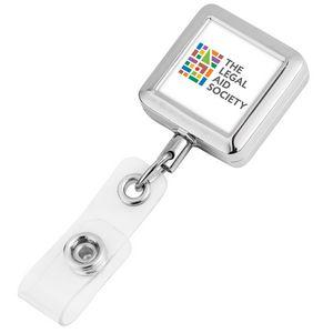 Square Metal Badge Reel (Polydome)