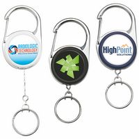 Heavy Duty Carabiner Key Reel (Label)