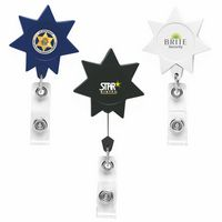 7 Point Star Retractable Badge Reel (Chroma Digital Direct Print)