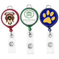 Large Face Badge Reel - Translucent Colors (Polydome)
