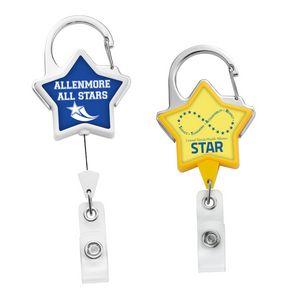 JUMBO Star Carabiner Badge Reel - LABEL