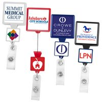 Double Up Square Retractable Badge Reel (Label)