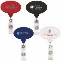 Jumbo Anti-Microbial Oval Retractable Badge Reel (Chroma Digital Direct)