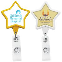 Jumbo Anti-Microbial Star Retractable Badge Reel (Label Only)