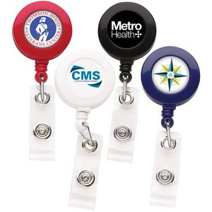 Better Round Retractable Badge Reel (Label Only)