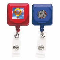 Good Translucent Square Retractable Badge Reel (Chroma Digital Direct Print)