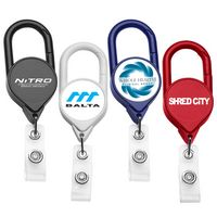Jumbo Carabiner Retractable Badge Reel (Polydome)
