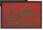 Olefin Red Personalized Holiday Logo Mat (18x27)