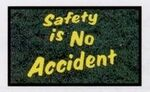 Custom Olefin Quality, Safety, Financial Design Indoor/Outdoor Carpet (Safety is No Accident) (3'x4')