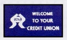 Logo Pin Financial Design Personalized Carpet (Welcome to Your Credit Union) (3x4)