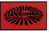 Olefin Standard Design Indoor/Outdoor Carpet (Welcome) (Circle) (3x5)