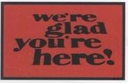 Logo Pin Standard Design Indoor/Outdoor Carpet (Were Glad Youre Here) (3x5)