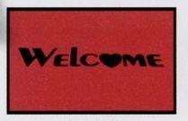 Olefin Standard Design Indoor/Outdoor Carpet (Welcome w/Heart) (4x6)