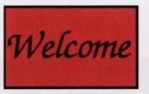 Olefin Standard Design Personalized Carpet (Welcome) (Script) (3x5)