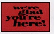 Logo Pin Standard Design Personalized Carpet (Were Glad Youre Here!) (4x8)