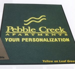 Logo Pin Custom Design One Color Imprint Personalized Indoor/Outdoor Carpet (4x10)