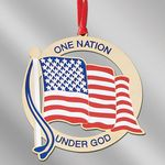 American Flag Holiday Ornament