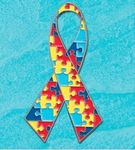 Custom Autism Awareness Ribbon Lapel Pin